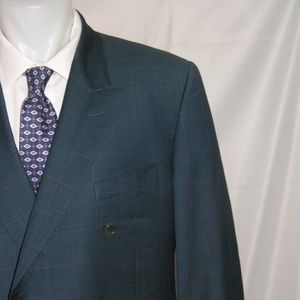 Ted Lapidus Super 100 Double Breasted Suit 48L